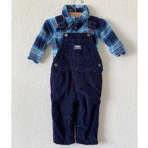 Oshkosh B'Gosh Baby Boy Lined Corduroy Overalls